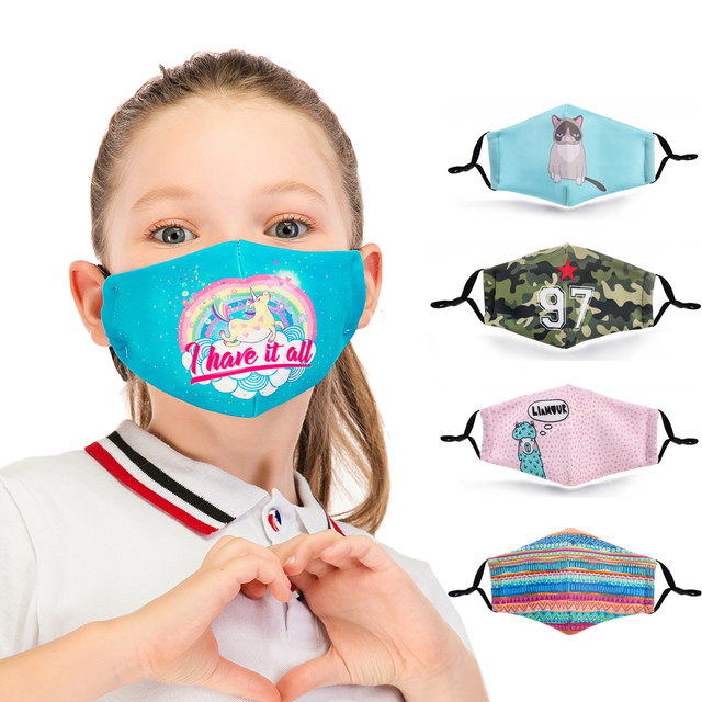 Reusable Children Mask Protective PM2.5 Filter mouth Mask anti dust Face mask bacteria proof Flu Mask Fast Delivery Kids Mask