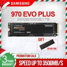 سامسونج 970 EVO Plus 250gb 500gb 1 تيرا بايت M.2 SSD NVMe M.2 2280 الداخلية الحالة الصلبة القرص الصلب SSD PCIe 3.0x4 ، NVMe 1.3 جديد SSD