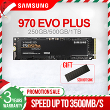 Samsung 970 EVO Plus 250Gb 500Gb 1TB M.2 SSD NVMe M.2 2280 ภายในSolid State Hard Disk SSD PCIe 3.0X4, NVMe 1.3 ใหม่SSD