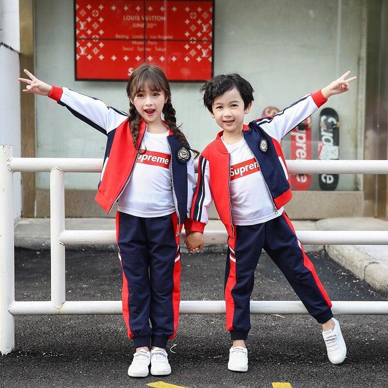 Childrenswear Primary School STUDENT'S School Uniform Children Casual Joint Business Attire Baseball Uniform Kindergarten Suit A