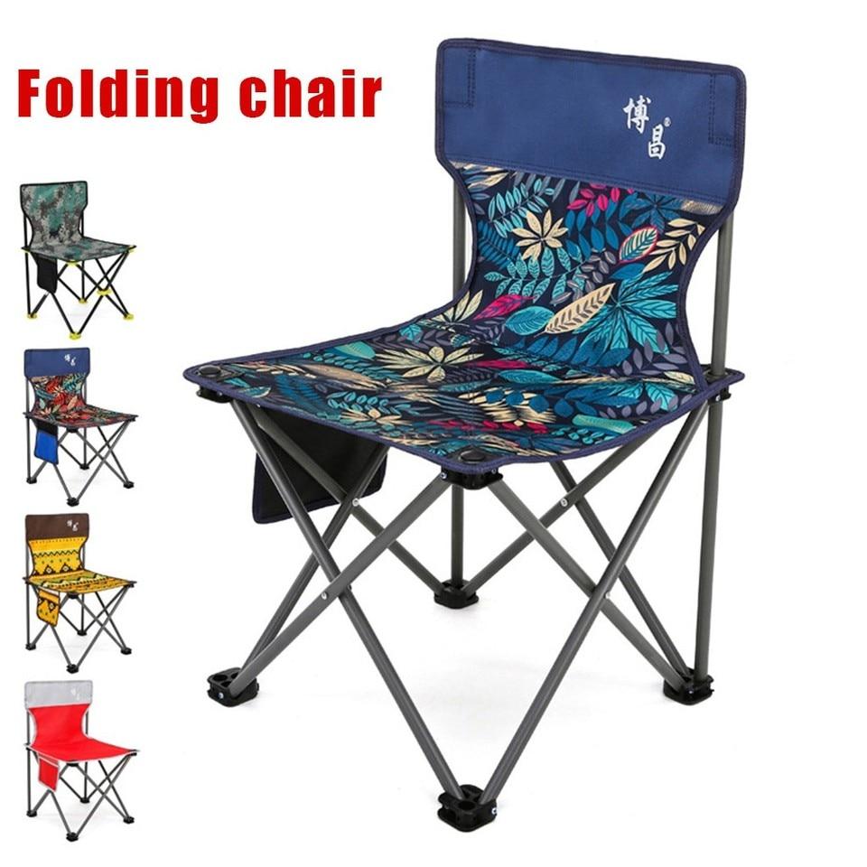 Portable Folding Chair Outdoor Camping Fishing Picnic Beach BBQ Stools Seat UK