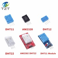 DHT22 AM2302 DHT11/DHT12 AM2320 Digital Temperature Humidity Sensor Module Board For Arduino Ultra-low Power High Precision 4pin