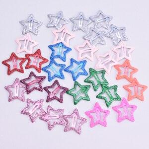 20pcs/lot 3CM Mini Star Hair Clip Kids Glitter Metal Hair Clips Barrettes Hairpins Girls Hair Accessories Headwear Styling Tools