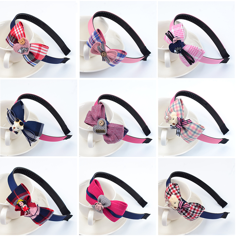 Cute Sweet Hair Hoop Hair Accessories Bow With Teeth Non-slip Princess Headband Korean Girls Hairpin Small Girl Head Jewelry