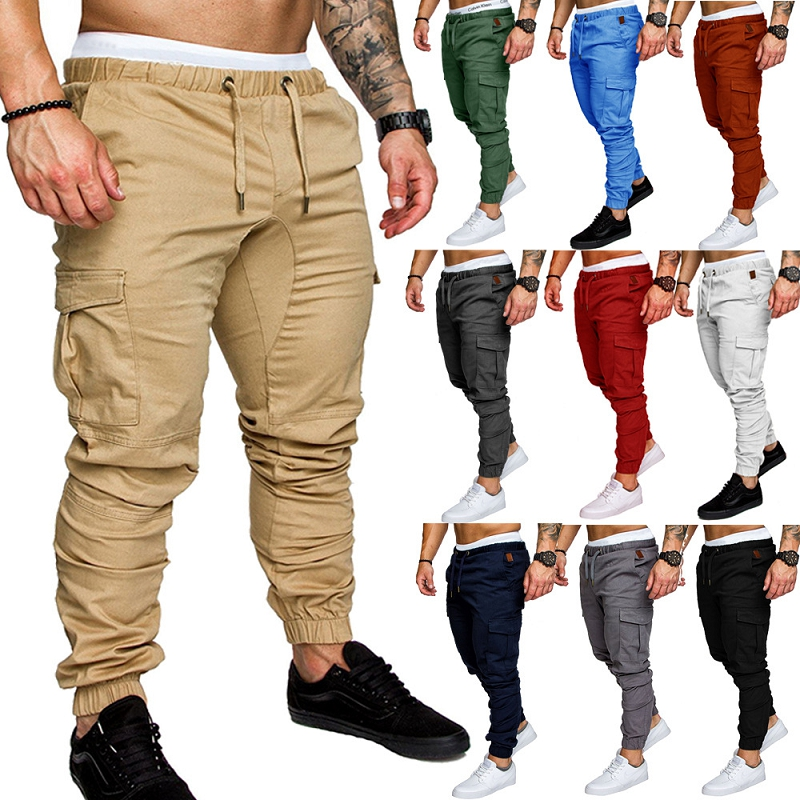2019 Clothing Man Clothing The New Leisure Men's Beam Foot Rope Male Wide Pants Pocket Elastic Movement