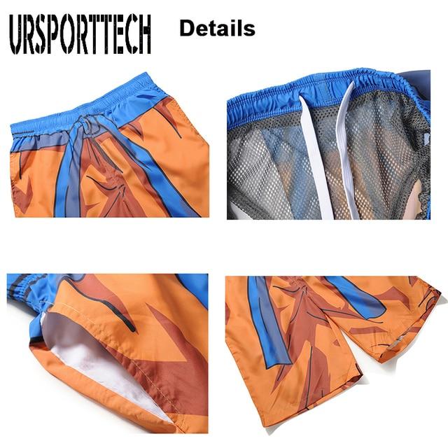 URSPORTTECH Beach Shorts Men Bottoms Quick Dry Print Swimming Surfing Shorts Summer Draw String Elastic Waist Short Men Swimwear 6