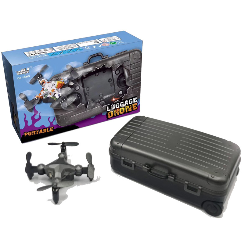 2.4G WIFI DH-120 Luggage drone mini folding quadcopter remote control altitude hold real-time transmission fpv 4-axis RC drone image