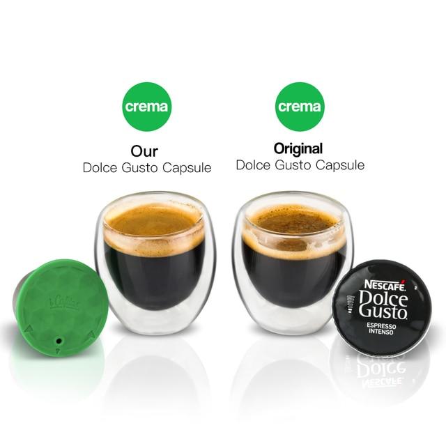 دولتشي غوستو ماكينة القهوة كبسولات إعادة الملء نسبرسو كبسولة قابلة لإعادة الاستخدام الفولاذ المقاوم للصدأ القهوة تصفية اكسسوارات المطبخ أداة 3
