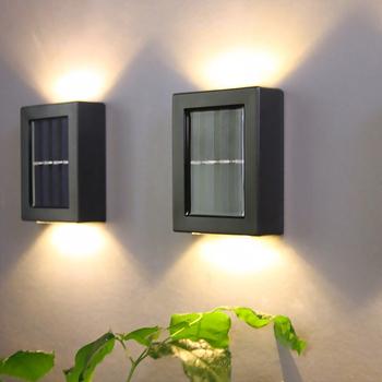 2PC lampa ścienna na energię słoneczną ogrodowa lampa domowa wodoodporna ściana światło w górę iw dół ogród dekoracyjna lampa ścienna Dropshipping tanie i dobre opinie oobest CN (pochodzenie) NICKEL solar wall lamp Ip33 5 5 V Nowoczesne Żarówki led Oświetlenie domu 2g11 Ze stopu aluminium ze stopu aluminium