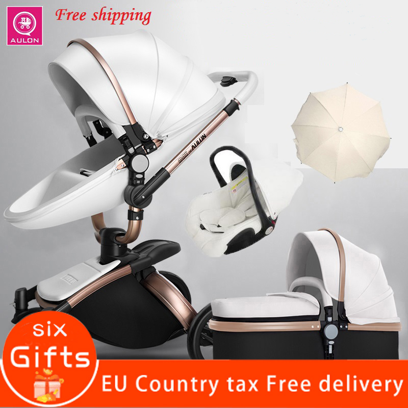 free delivery! 2019 new luxury baby stroller 3-in-1 high landscape fashion foldable imported European stroller