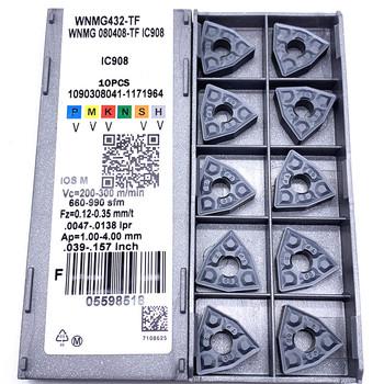 WNMG080408 TF IC907 908 zewnętrzne narzędzia tokarskie płytka węglikowa WNMG 080408 tokarka tokarny #8230 tanie i dobre opinie Baimo External Turning Tool Węglika wolframu