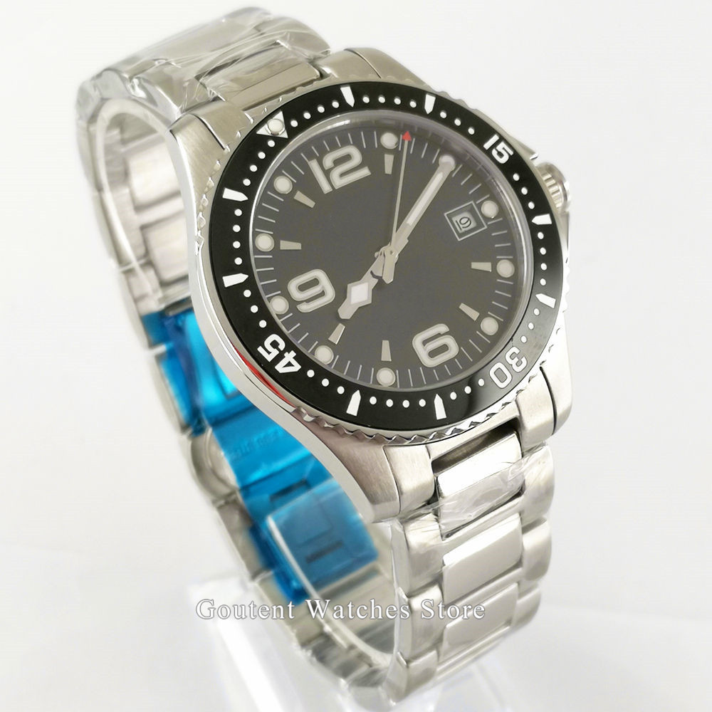 Bliger/Sterile Men's Watches 40mm Luxury High Quality black dial Mechanical Men's Watch Sapphire Crystal Metal Strap