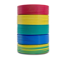 50m lot BV2.5mm square single core flame retardant hard wire BV2.5 mm anaerobic solid pure copper wire BV 2.5mm PVC 2.5 mm cable