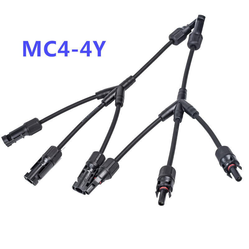 Y 3Y 4Y 5Y Branch Parallel Connection 30A 1000V Electrical Solar Connector Photovoltaic 2pcs Solar Panel Cable Wire Connect