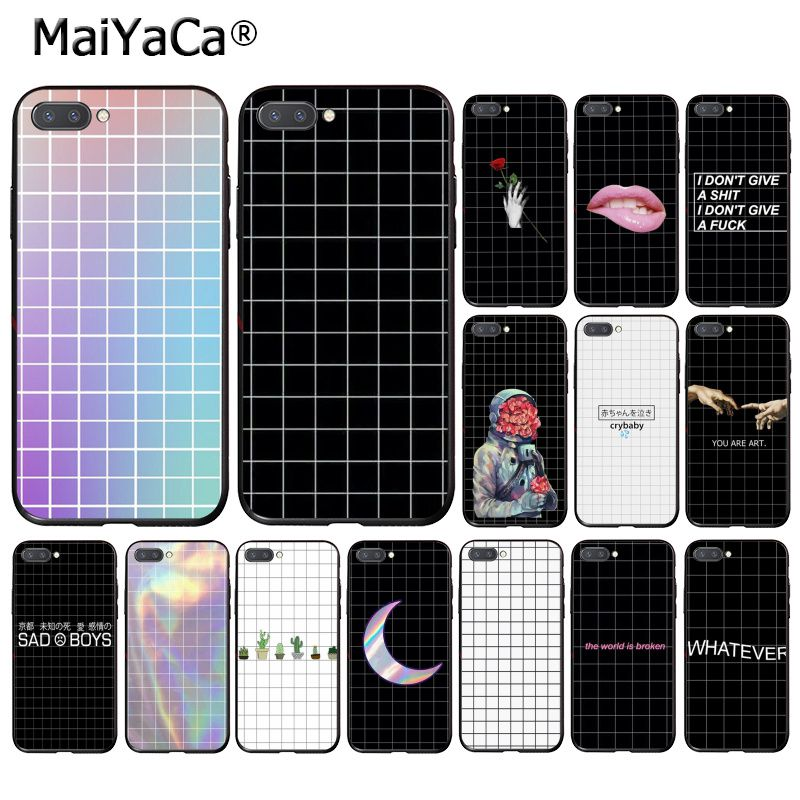 MaiYaCa Black White Checkered Stripe Phone Case For Huawei Honor 8X 9 10 20 Lite 7A 8A 5A 7C 10i 20i View20