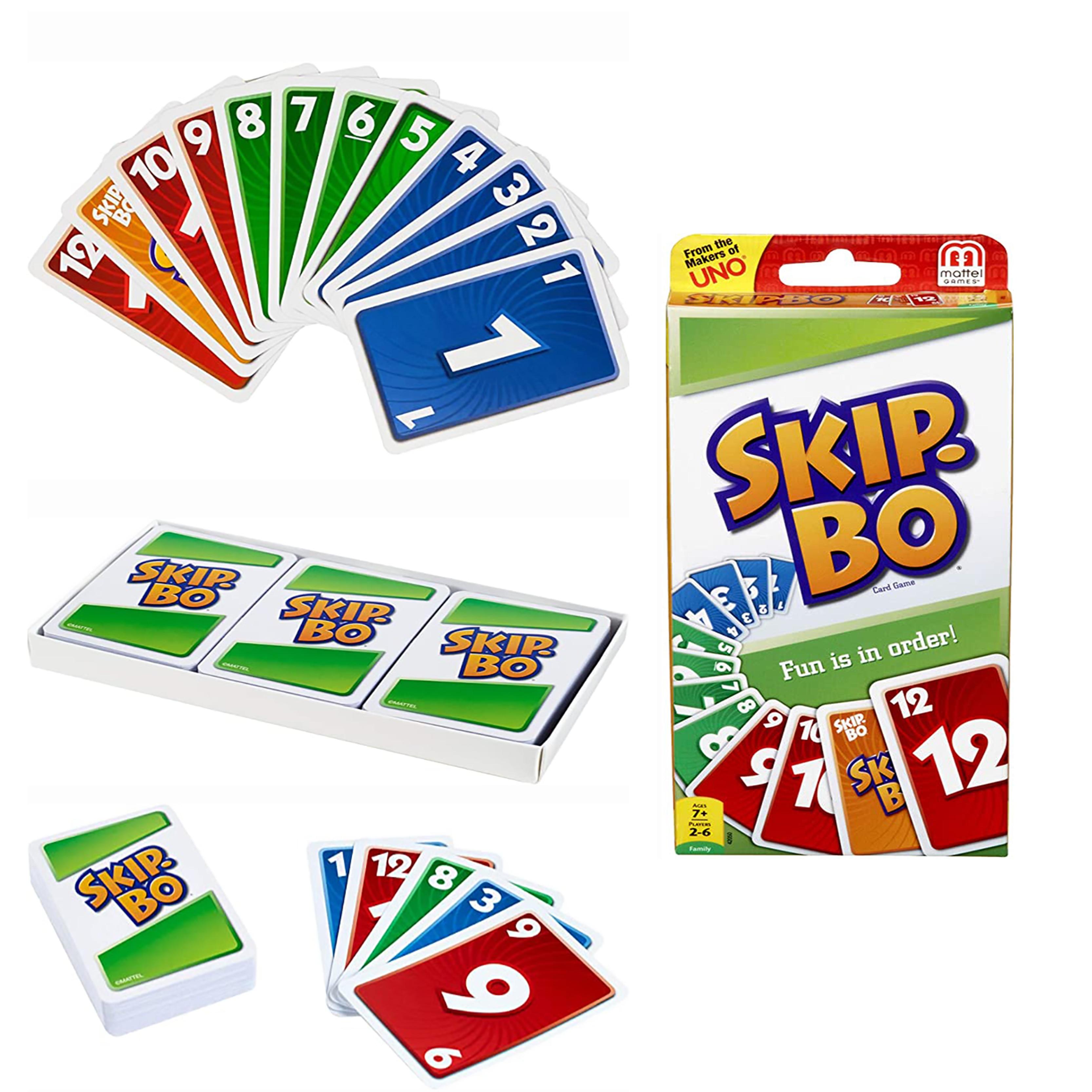 Mattel UNO карты Скип Бо игры семейное развлечение забавная игра в покер вечерние игрушки игральные карты подарок Карточные игры      АлиЭкспресс