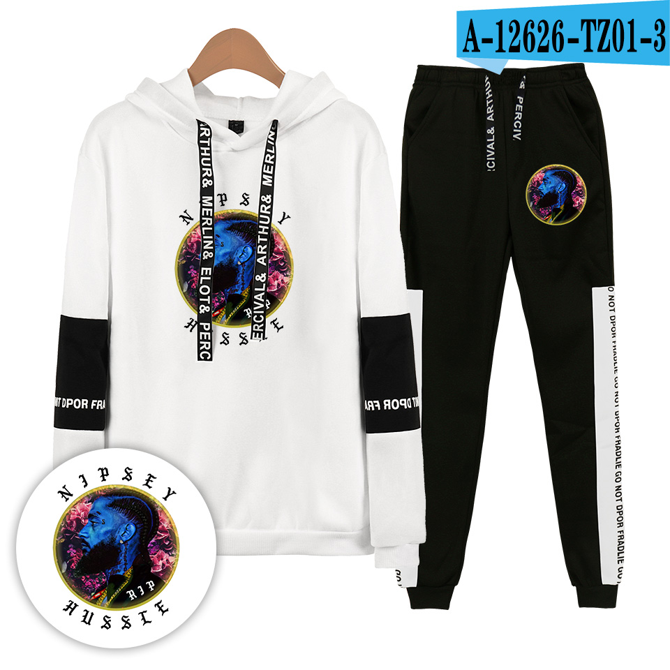 New Fashion Nipsey Hussle Hoodies Sweatshirts And Sweatpants Cotton Men/children Two Piece Set Brand Sportswear Autumn Winter