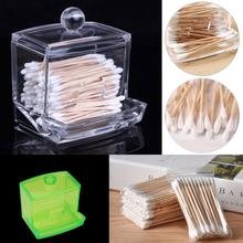 Acrylic Storage Cotton Ball Swab Pad Organizer Holder Bathroom Container New Makeup