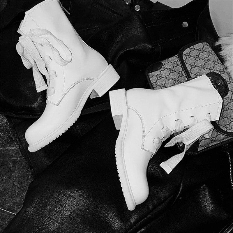Prova Perfetto marque Design femmes bottes en cuir véritable bottes courtes femmes loisirs mode défilé femmes chaussures bottes d'hiver - 6