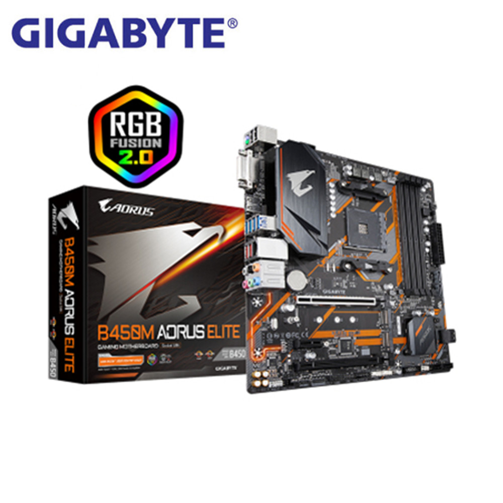 Gigabyte B450m Aorus Elite Gaming Am4 Drr4 Motherboard New Carving Supports The Second And Third Generation Of Ruilong Aliexpress