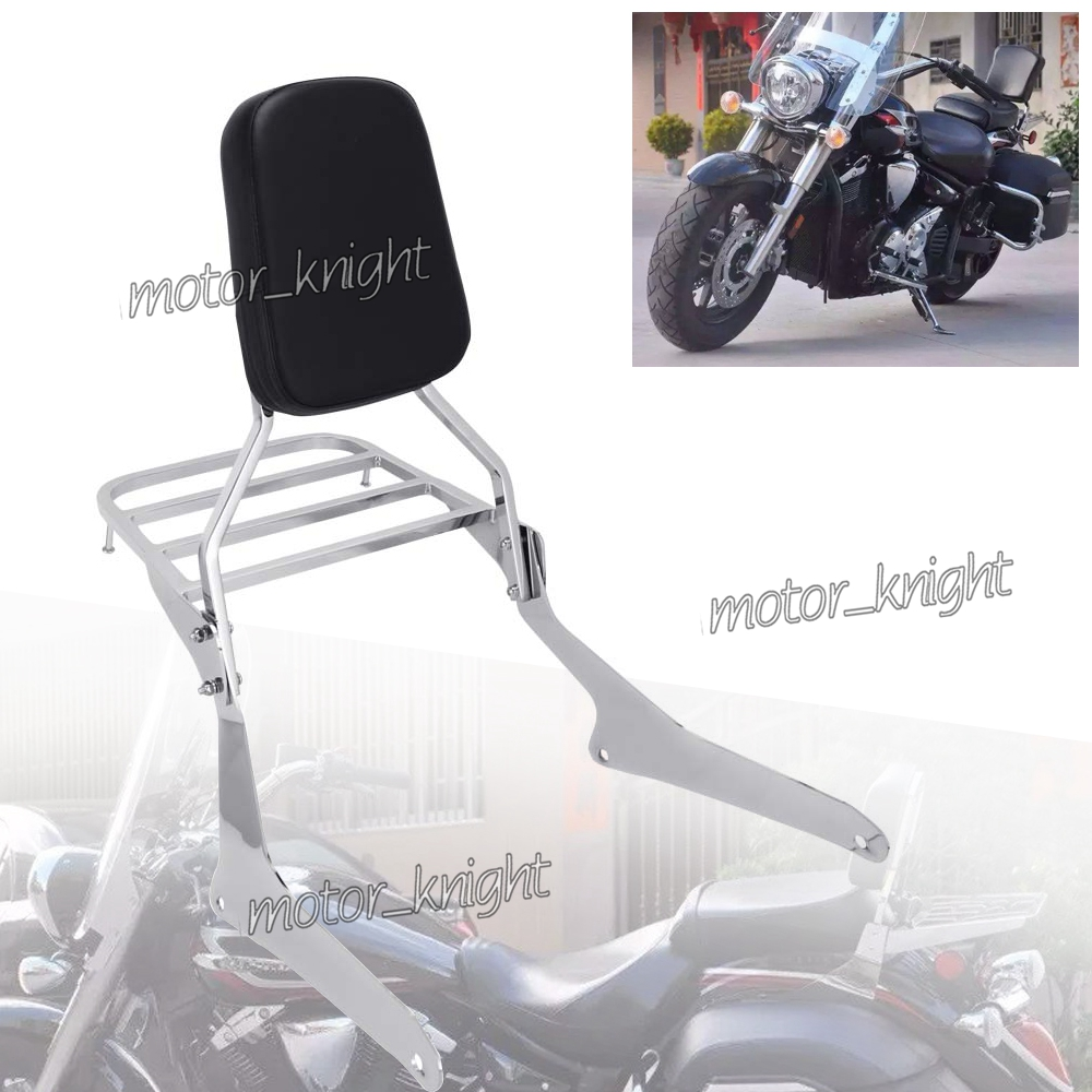 Yamaha V-Star 650 Custom Sissy Bar Backrest Pad /& Luggage Rack Combo