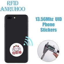 5PCS Rewritable Tag RFID Smart Chip Mobile Phone Sticker 13.56Mhz UID Clone Badge S50 Copier Key NFC Duplicator Proximity Token
