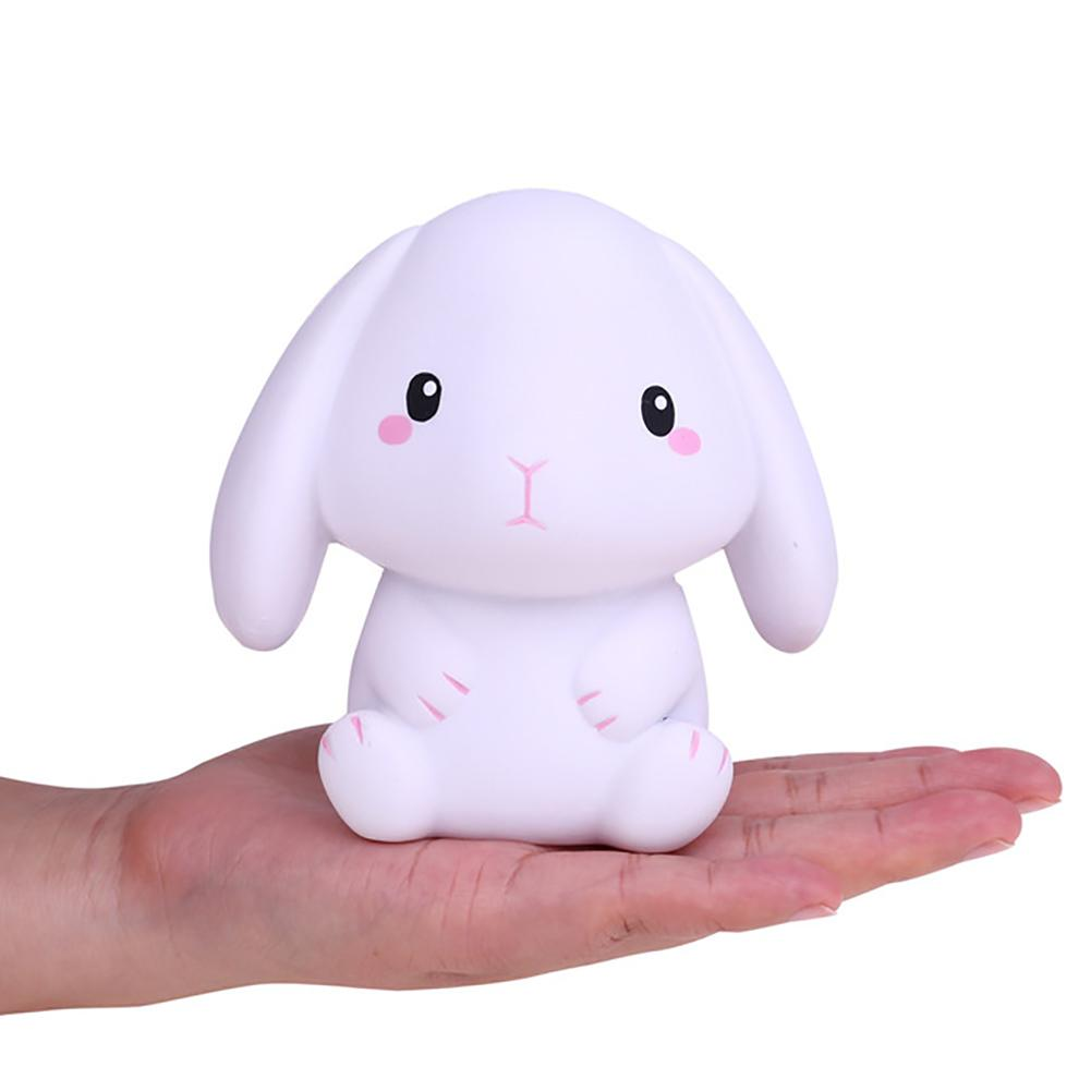 Mini Soft Long Ears Rabbit Doll Scented Slow Rising Stress Relief Squeeze Toy