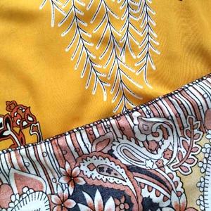 Image 5 - Dashikiage 2019 New Arrivals Fashion Design African Dashiki Yellow Pure Cotton Floral Elegant Casual African Dashiki Women Dress