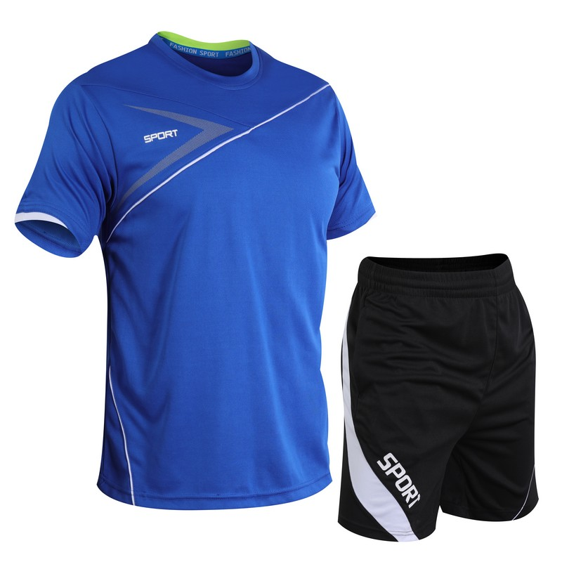 Summer Sports Suit Men's Short-Sleeved Shorts Quick-Drying Running Clothes Fitness Thin Basketball Sportswear