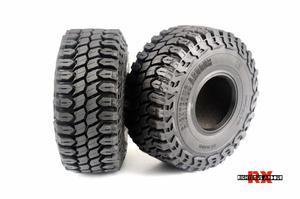 Image 3 - 2 4Pcs 1.9 Inch 125mm 1/10 Rock Crawler Rubber Tires for D90 TRX 4 Defender TRX6 G63 SCX10 II AXIAL 90046 TF2 RC Car Accessories