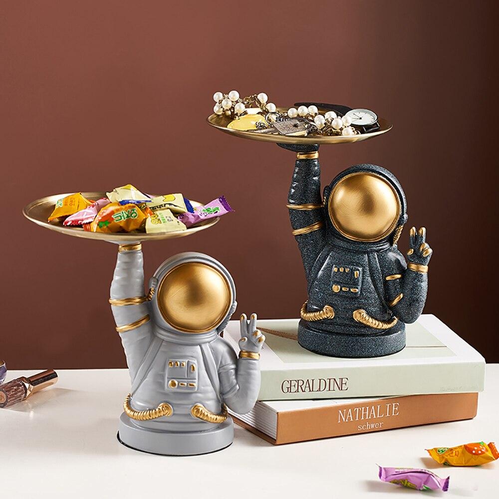 Скандинавская декорация для дома, креативный поднос для конфет с астронавтом, украшения для гостиной, настольные аксессуары, новогодние ук...
