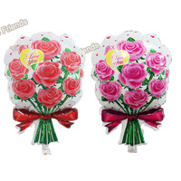 5pcs Large Roses Foil Balloons Mother Globos Marriage Wedding Decoration Balloon Valentine's Day Party Supplies Wholesale
