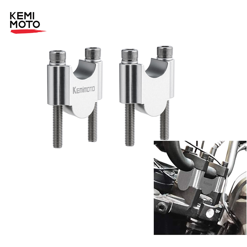 KEMiMOTO Motorcycle Handlebar Riser 22mm Riser Adapter 7/8