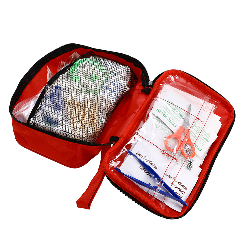 Portable Safe Travel First Aid Kit Medical Emergency Kit First Aid Kit Pouch Treatment Pack Set Outdoor Survival 180pcs/pack