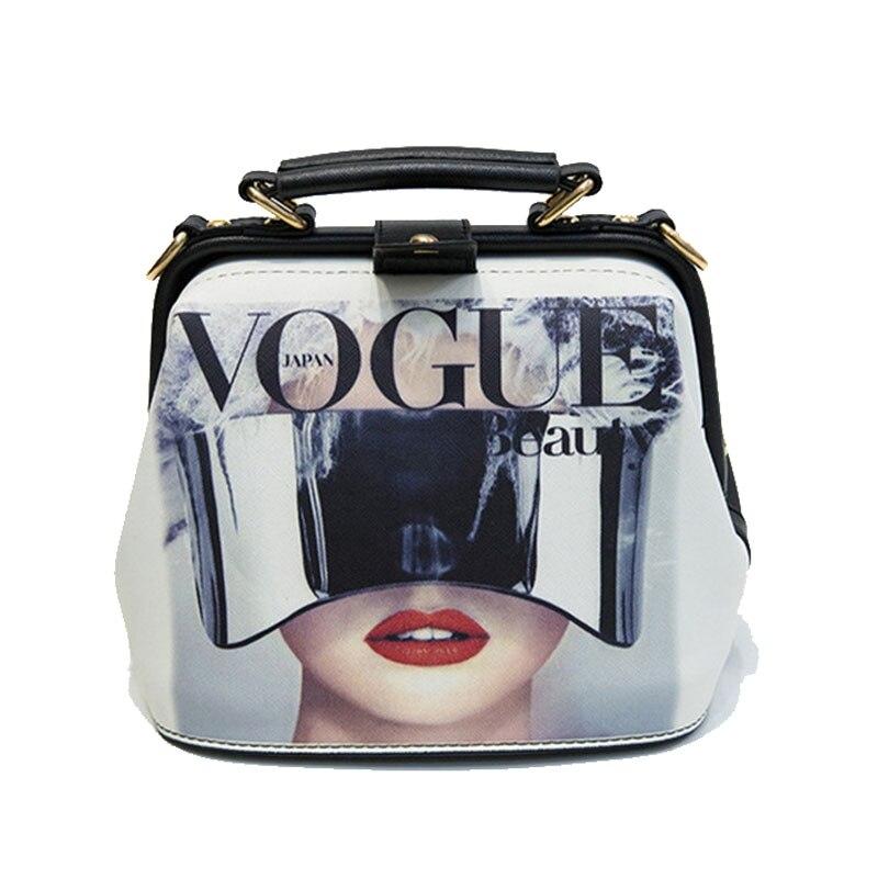 Women Handbag Leather Bag Women's Bags Doctor Small Shoulder Crossbody Bags Cartoon Pattern Rivets Girls Fashion Women Bag-in Shoulder Bags from Luggage & Bags