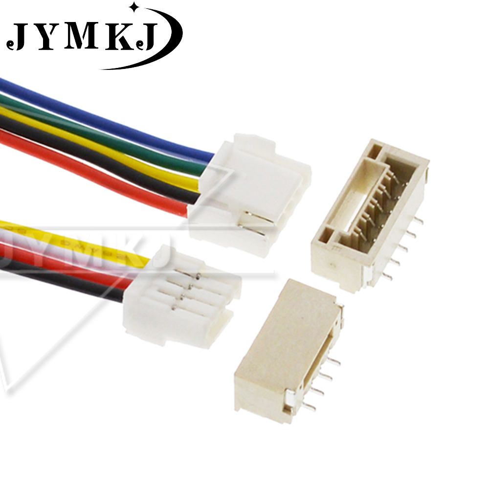 5 SETS JST GH Series 1.25 2P/3P/4P/5P/6 Pin Connector With Wire 100MM 150MM 1007 28 AWG GH1.25 1.25MM