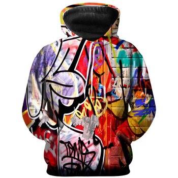 New graffiti 3d hoodie men and women fashion casual long-sleeved pullover cute graffiti sweatshirt street men's shirt fashion hoodie men s and women s salomon casual long sleeved hooded pullover autumn and winter brand new sweatshirt