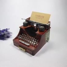 Typewriter music box Creative dynamic winding music box music jewelry box