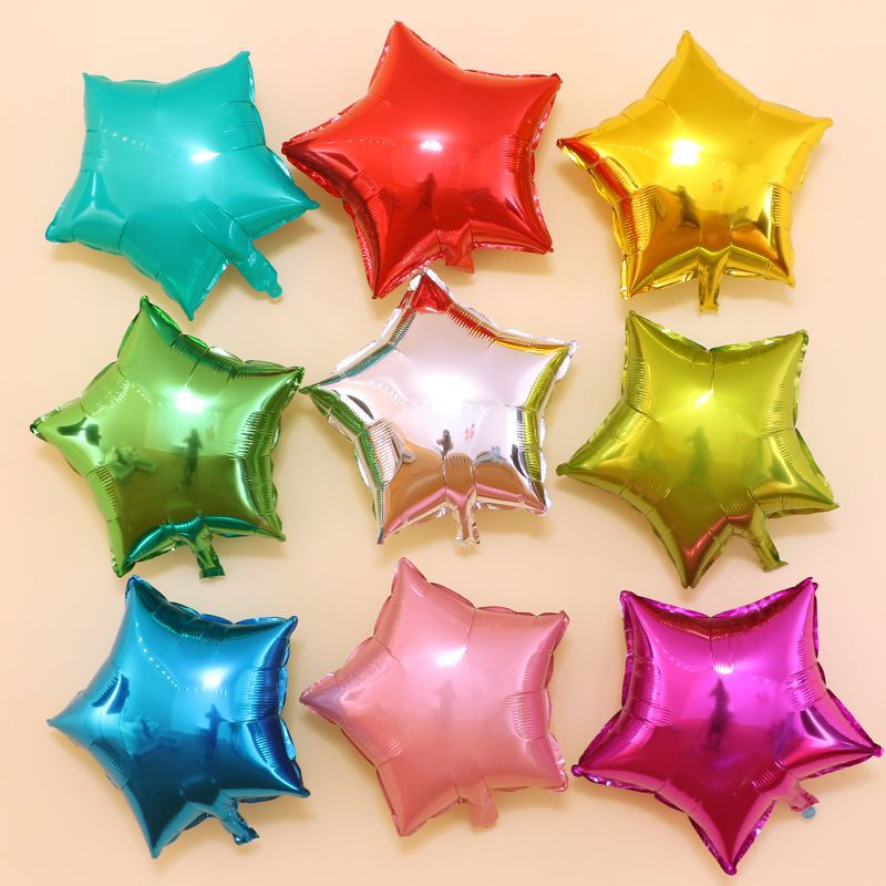 <font><b>10</b></font> pcs 18Inch Five-pointed Star Shaped Foil Balloon Wedding Party <font><b>Decoration</b></font> <font><b>Birthday</b></font> Inflatable Baloon Party <font><b>Decoration</b></font> Ball image