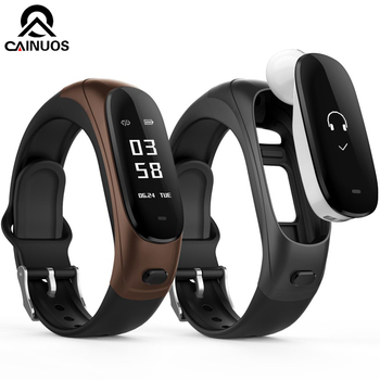 lowest price ) New men smart bracelet answer call with Bluetooth headset heart rate blood pressure waterproof fitness watch