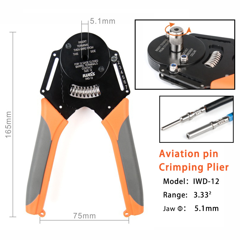 Hand Piller Pliers 14 IWD AWG Deutsch 16 Tool W2 Crimper 16 20 12 Deutsch Aonnector DTDTMDTP Cater For Terminal  Harley 18
