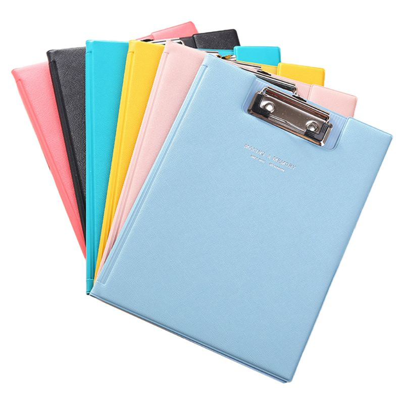A5 Waterproof Clipboard Writing Pad File Folder Document Holder School Office Stationery Supply Random Color