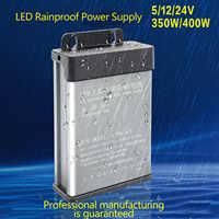 Fuente de alimentación LED Waterproo 12v 60w 100w 200w 300w 400w 600w Transformers Controlador LED de alta calidad para cartelera de luz