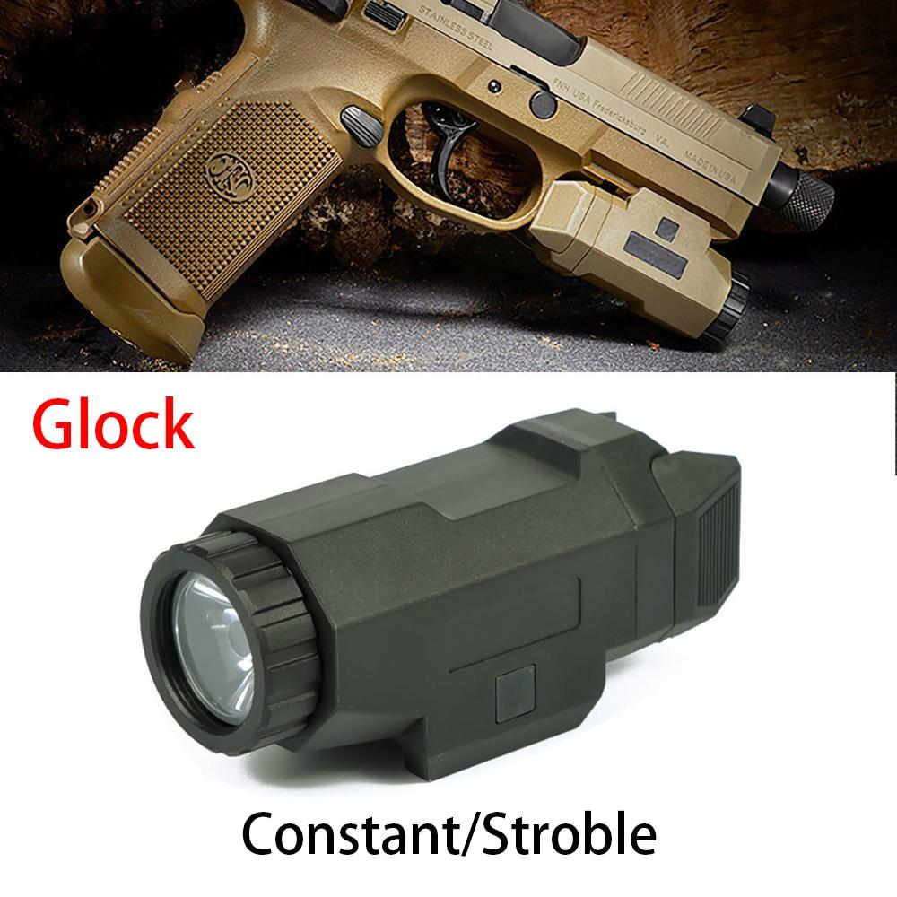 pistola compacta 200 lumen luz caca arma luz com 20mm ferroviario evolucao da noite led branco