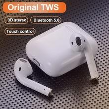 Original i12 estéreo sem fio bluetooth fone de ouvido fones com caixa carregamento para iphone android pk i7s i9 i11 i90000