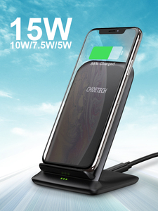 Image 5 - CHOETECH Wireless Charging 15W Qi Stand for iPhone 12 Pro X XS 8 Fast Wireless Charging Station for Samsung S10 S9 Phone Charger