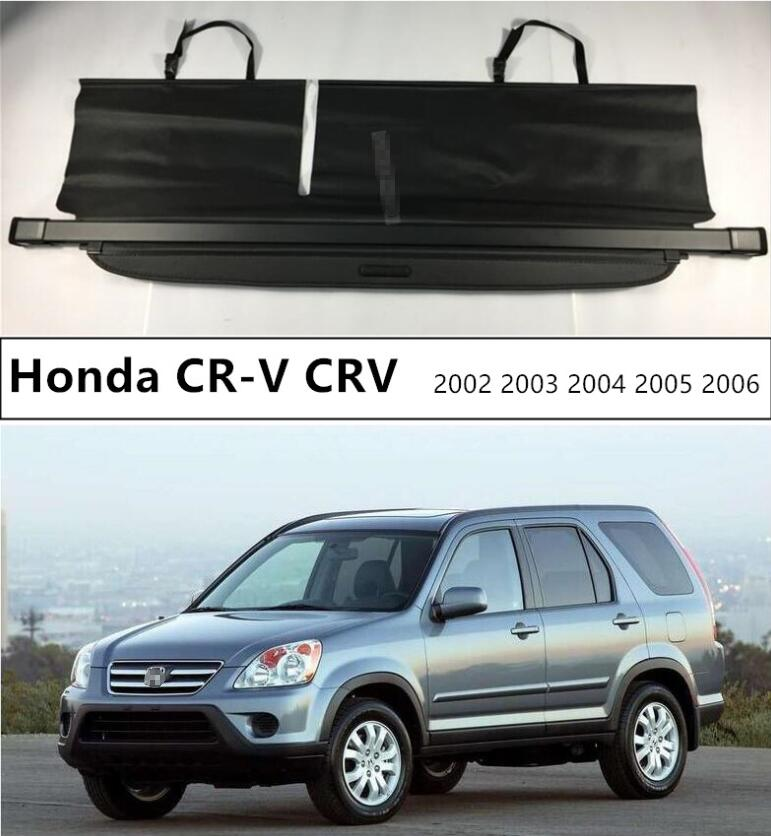 For Car Rear Trunk Security Shield Cargo Cover For Honda CR-V CRV 2002 2003 2004 2005 2006 Black Beige Auto Accessories