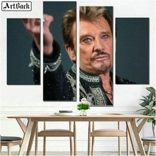 New Diamond painting JOHNNY HALLYDAY picture full square French singer wall decoration diamond mosaic crafts stickers