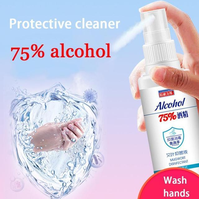 60ml 75% Disinfection Alcohol Carry-on Disposable Hand Alcohol Disinfection Spray Bottled Prevention Rine-free Hand Sanitizer