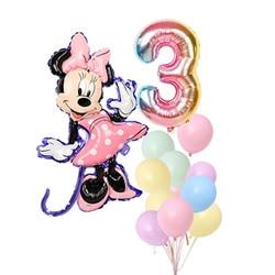 Воздушные шары из фольги Микки и Минни Маус, 1 комплект